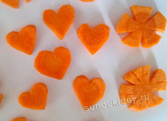1 нарезка морковки